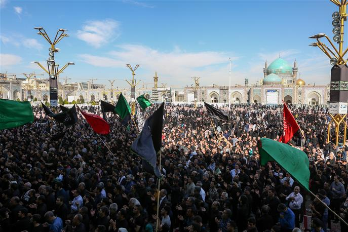 Imam Reza (AS) holy shrine, meeting place for absents of Arba'een rally