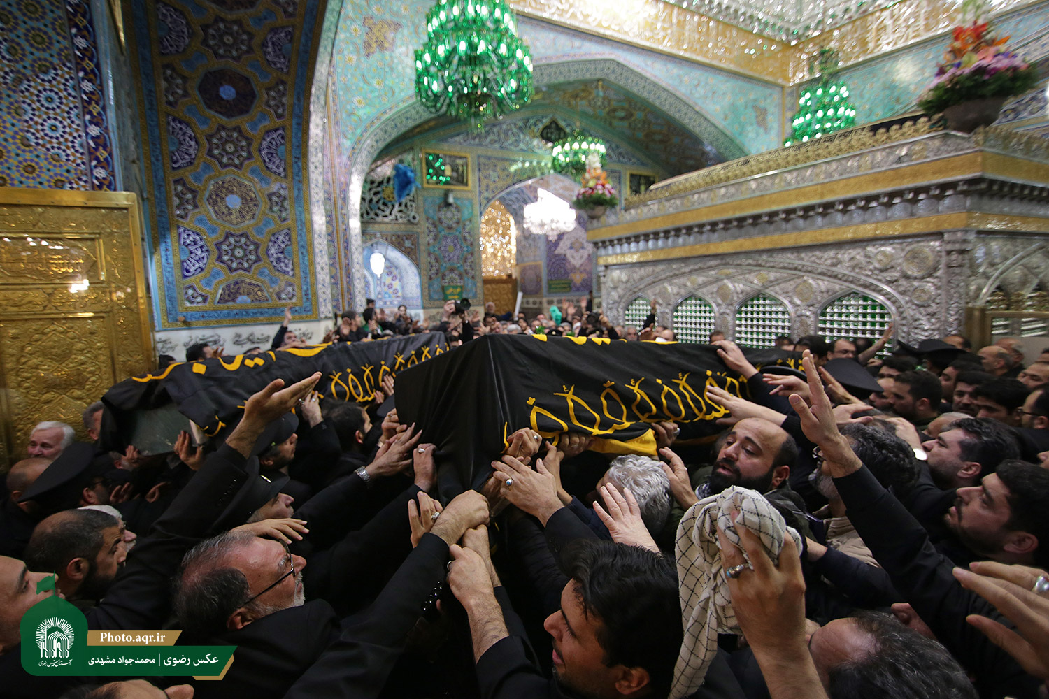 Funeral ceremony of the martyr Major-Gen. Soleimani and martyrs of the Resistance Front in the holy shrine of Imam Reza (AS)