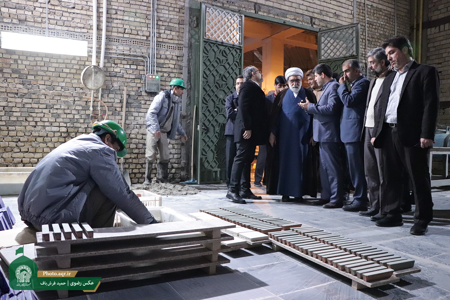 AQR chief custodian visits civil projects of the holy shrine