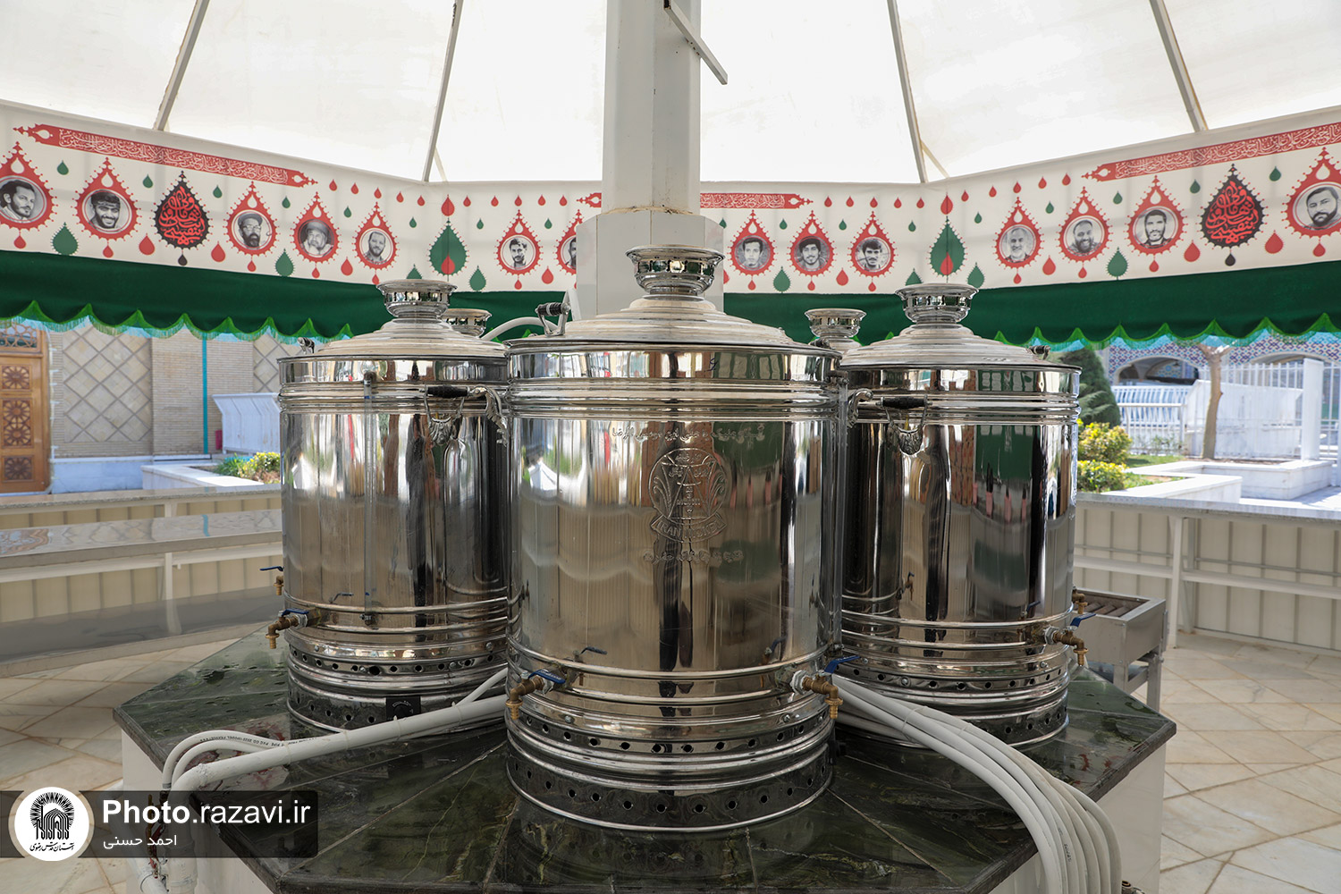 The second permanent teahouse in the holy shrine of Imam Reza (AS) was set up in the Qadir courtyard