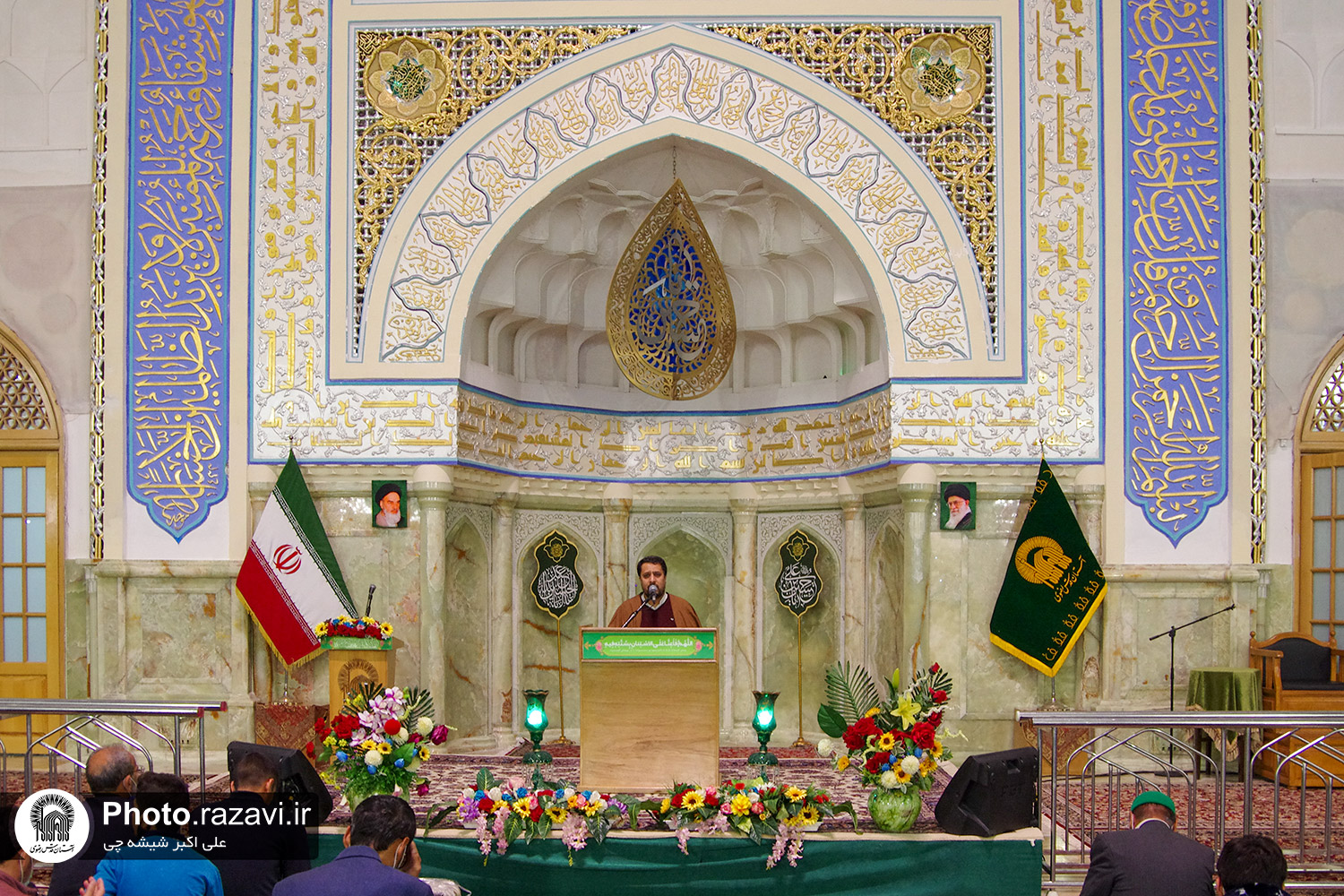The Atmosphere of Razavi Holy Shrine on Night of Birthday Anniversary of Imam Hussein ( AS )