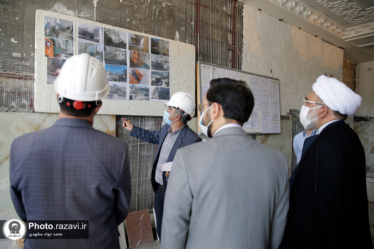 Continuation of construction works at Imam Reza holy shrine in photos