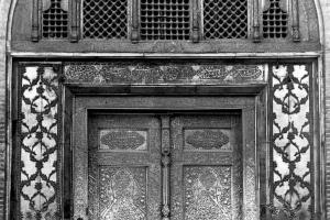 The entrance door of Dar al-Siyadah portico