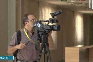 The presence of foreign news networks in Razavi Hospital