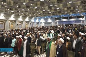Attendance of the Guests of Worldwide Conference   on the Lovers of Ahl Al-Bayt (A.S) and Takfiri Issue   to the Razavi Holy Shrine  (Hujjat al-Islam wa al-Muslimin Seyyed Ebrahim Raeisi)