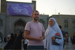 The Attendance of a French Couple to Razavi Holy Shrine