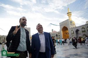 Attendance of Ukraines ambassador, Sergey Bordiliak to Imam Reza shrine
