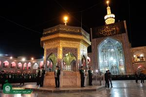 Sermon Preaching Ritual on Ashura Night at Razavi Holy Shrine