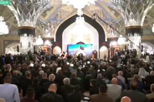 AQR holds conference to pay tribute to Arba'een servants, Mavakib owners
