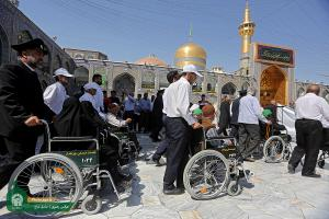 Moin al-Zuafa (supporter of the disadvantaged) ritual at Imam Reza (AS) holy shrine