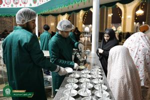 Tea parlor in holy shrine's Kawsar courtyard