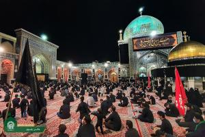 Imam Reza holy shrine all black in mourning for Tasua
