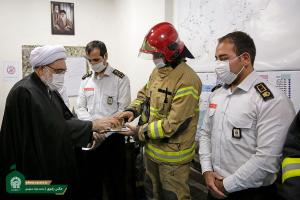 AQR chief custodian visits holy shrine's fire station