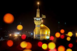 Razavi Holy Shrine on Birthday Anniversary Night of Imam of the Time (A.S.)