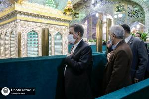Iran's First Vice President Jahangiri visits Imam Reza (AS) holy shrine