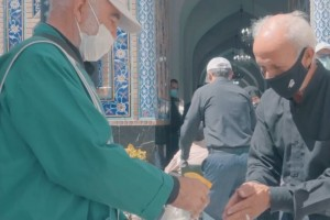 Visiting Imam Reza holy shrine by observing health protocols