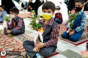 First Graders' Academic Year Commences in Imam Reza holy shrine